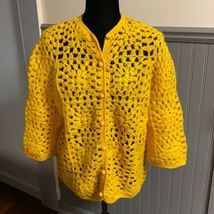 Vintage Max Azen Granny Square Wool/Mohair Sweater